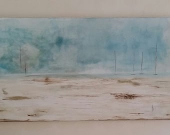 Great modern painting with acrylics and pigments