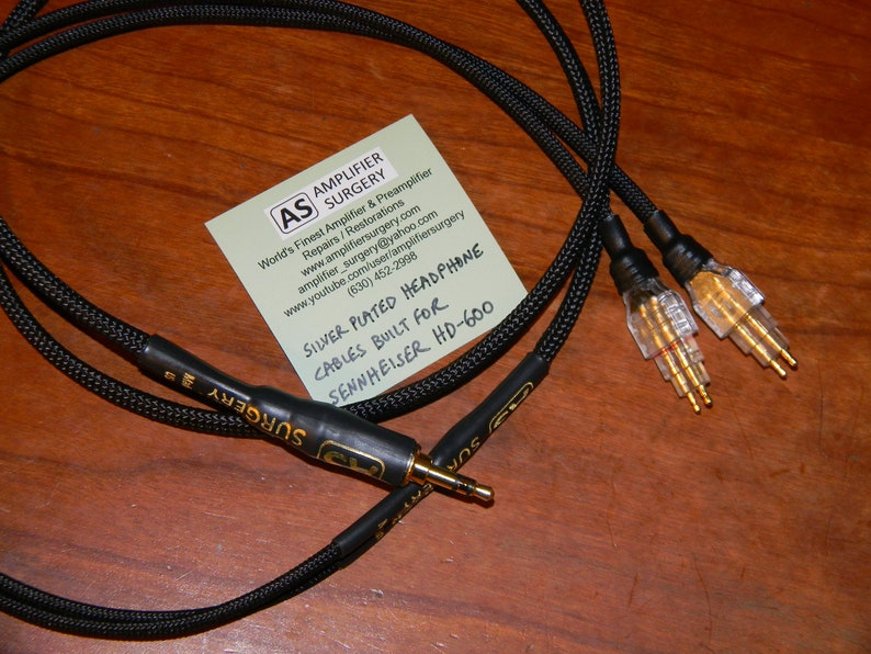 Sennheiser HD25-1 HD525 HD535 HD540 HD565 HD600 HD650 /& Fostex TH-900 TH-610 Headphones Silver Plated upgrade Cables Made in USA