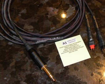 Sennheiser HD25-1 HD525 HD535 HD540 HD565 HD600 HD650 Headphones Silver Plated upgrade Cables Made in USA