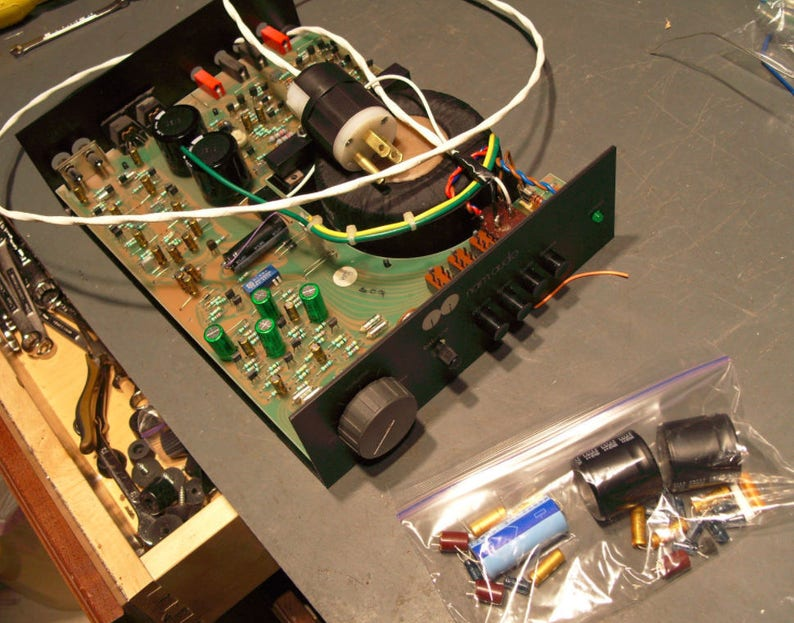 A comprehensive Repair and Restoration Service for NAIM Nait 1 & 2  integrated amplifiers using audio grade replacement components