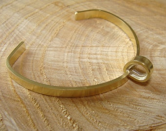 Brass and silver bangle bracelet. 100% HANDMADE