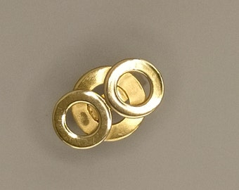 Triple ring rings, brass, sterling silver 925, gilding with fine gold 20 micron