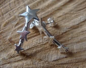 Silver earring, star earring. 100% HANDMADE
