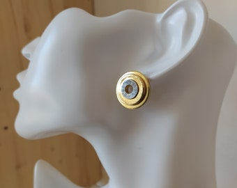 Round earrings, in brass, sterling silver, gilding 5 micron fine gold