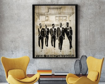 Art Print Poster Canvas The Temptations Motown Music #1