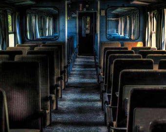 Train to Nowhere - Abandoned Train - Train Car Photo - Abandoned Photography - Urbex Photography - Travel Photography
