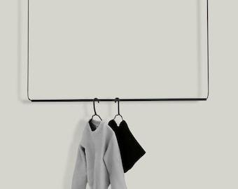 Flexible Hanging Wardrobe | Clothes rack made of metal | Clothes Rack | Design | 100 cm | 120 cm | matt black | by Hosenschnecke Interiors