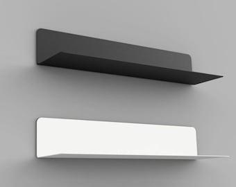 Wall shelf floating shelf shelf kitchen bedroom living room lengths 35 | 60 | 80 cm steel black white Juncher-Design Scandi