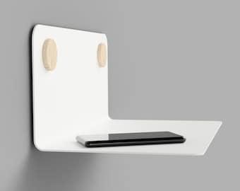Shelf Wall Shelf Floating Shelf Kitchen Bedroom Living Room 35 | 60 | 80 cm steel white black design WITH DOTS natural