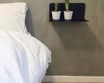 Wall shelf floating shelf shelf nursery bedroom living room lengths 35 | 60 | 80 cm steel white black Design Scandi
