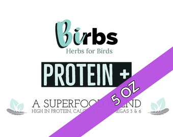 Protein+ (BIRBS - Herbs for Birds) Natural Bird Treat / Supplement Made with Organic Ingredients 5 OZ