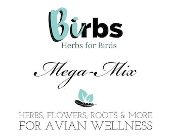 6oz Birbs Mega-Mix (herb salad) for Birds