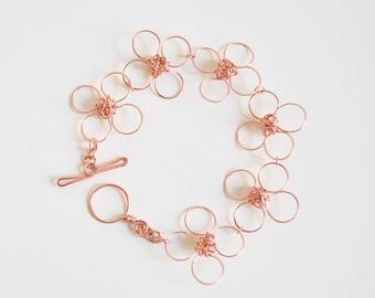 4 Peta Linked Rose Gold Bracelet
