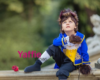 9cbc283a6fbc8 Beast costume for boy Disney Prince suit Beauty and the Beast outfits  Halloween outfit cosplay photo prop birthday christmas gift horns