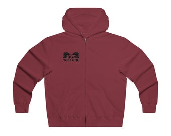 Iron Vulture Men's Lightweight Zipper Hoodie