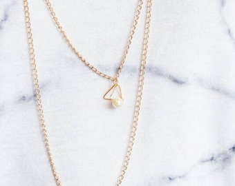 PYRAMID Layered Necklace