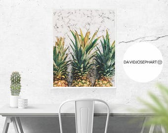Pineapple Marble Print, Pineapple Print, Marble Print, Pineapple Wall Art, Marble Poster, Tropical Print, Pineapple Decor, Digital Download