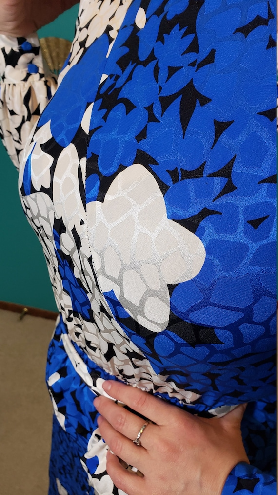 Vintage 1980s Lilli Ann Schuman 100% silk dress f… - image 5
