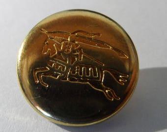 Button 1 shank 19 mm round gold metal