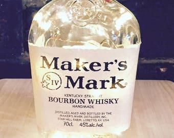 Maker's Mark Whiskey Light, Battery operated, LED