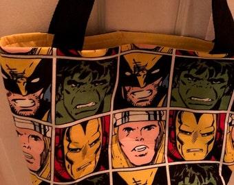 The World's Best Tote Bag / Purse- Marvel Avengers Print