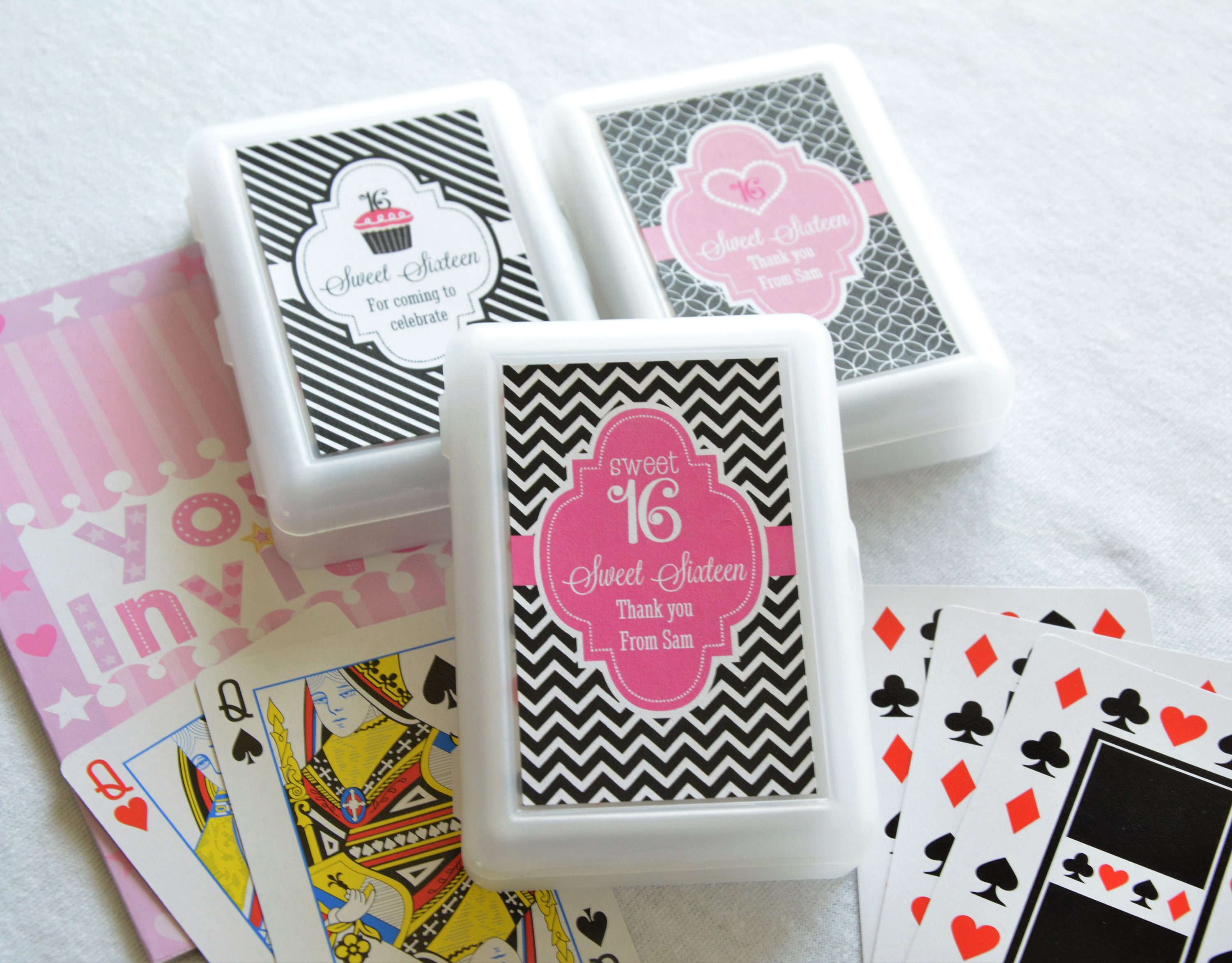50 Decks Personalized Playing Cards Birthday Favor Sweet