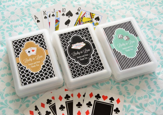22 Colors 25 Las Vegas Theme Personalized Playing Cards Poker Gift Personalized Wedding Favor Groomsmen Gift Bachelor Party Favor