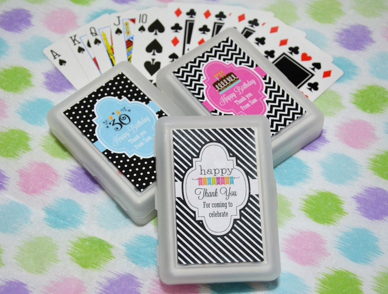50 Decks Personalized Playing Cards Birthday