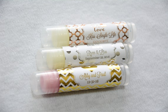 72 Personalized Sweet 16 //15 Flavored Lip Balm Tubes Birthday Party Favors