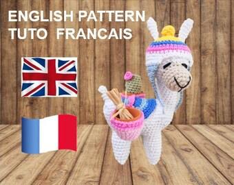 Free Crochet Llama Amigurumi Pattern | Modele crochet gratuit ... | 270x340