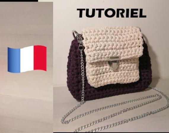Tutoriel Sac A Main Fil Textile Crochet Débutant Trapilho Pattern Français Tutoriel Patron