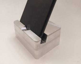 Metal CNC Iphone Dock, Stand, Mount, Aluminum, Metal