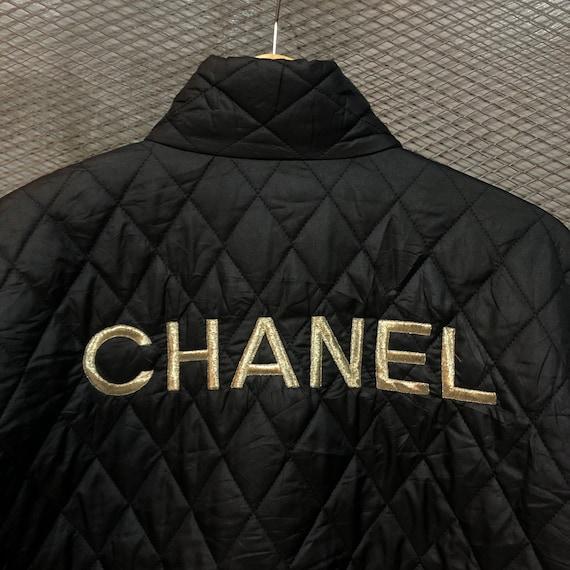 Vintage Chanel Quilted Bomber Jacket - image 4