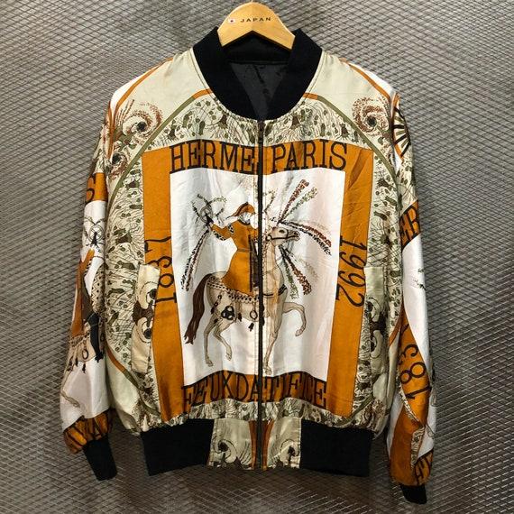 Vintage Hermes Silk Bomber Jacket