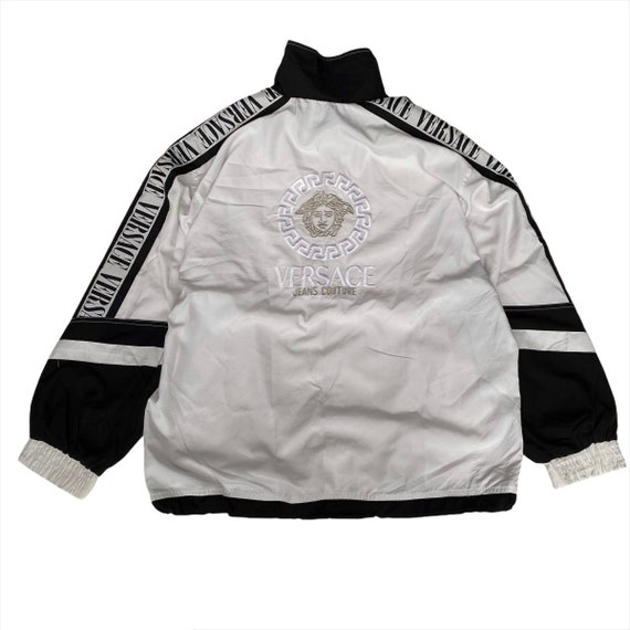 Vintage Versace Tapped Big Logo Embroidery Windbre