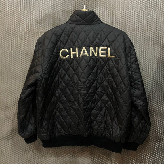 Vintage Chanel Quilted Bomber Jacket - image 3