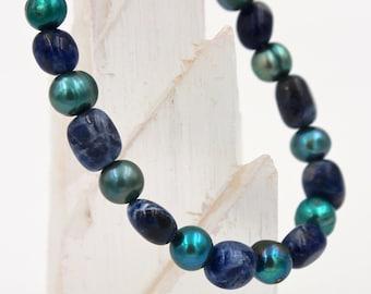 Sodalite Bead Bracelet II
