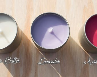 Soy Wax Candle in Metal Tin - 3 Scents Available