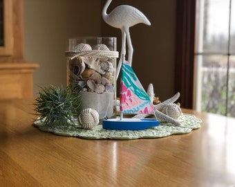 Lilly Pulitzer for Pottery Barn Mermaids Cove mini Sailboat