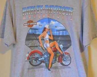 Vintage Harley Davidson grey motorcycle t shirt