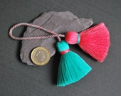 MORE COLOURS High Quality Double Ended Cotton Tassels Handmade Cute Double Tassels