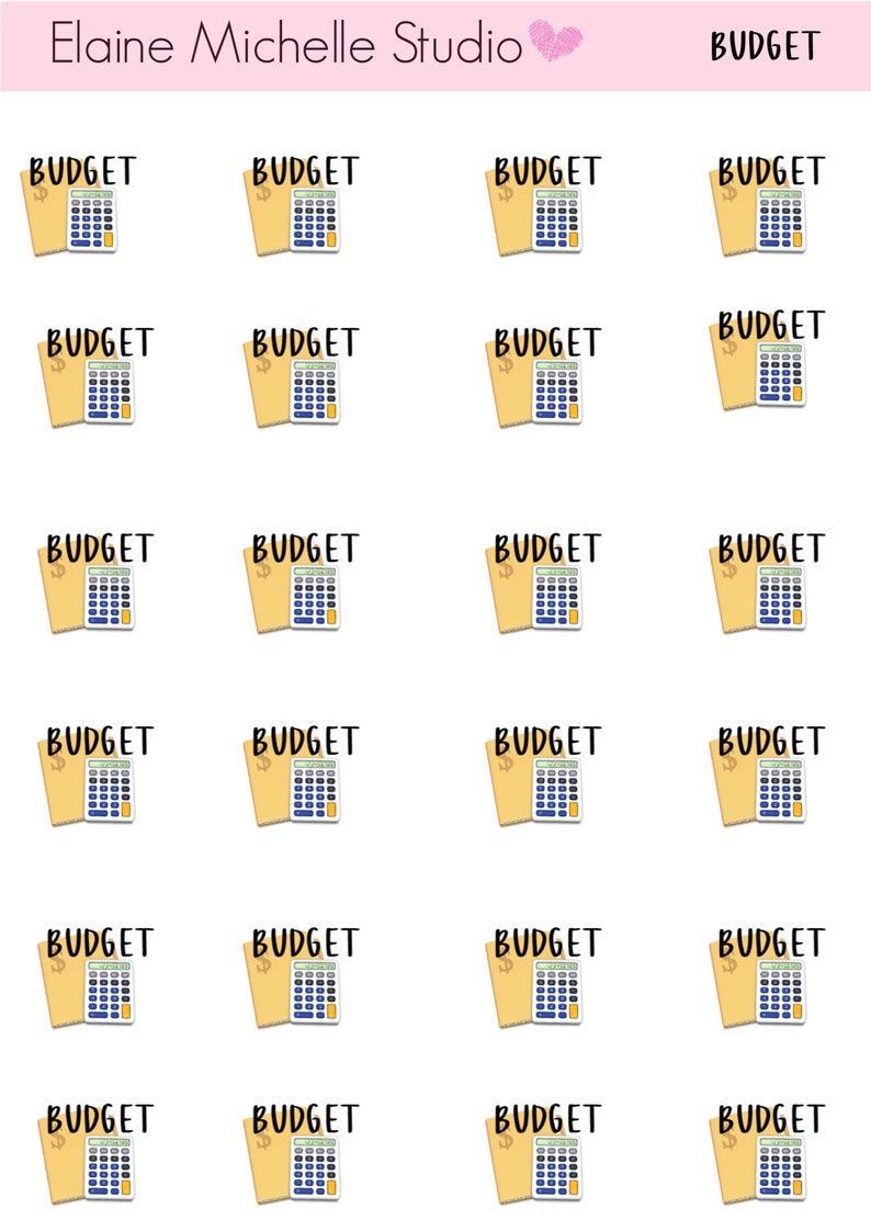 Budget Icon Planner Stickers image 0