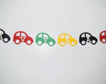 Car Paper BannerCar BannerPaper CarsMulti Color GarlandBirthday Party DecorationsBoy Birthday DecorCar ThemePaper Cars With Name
