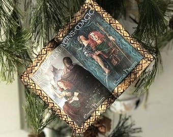Heart of the Fae Book Themed Ornament