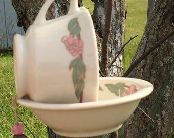 Handmade Vintage Cup and Saucer Bird Feeder