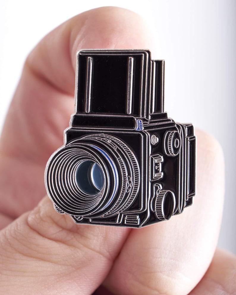 Mamiya RB67 / RZ67 Medium Format 120mm FIlm Camera Enamel Pin