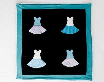 Tutu Dresses Blanket / Tummy Time Mat / Sensory Blanket with Crinkle / Activity Blanket