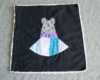 Tutu Dress Baby Lovey / Tactile lovey with Crinkle