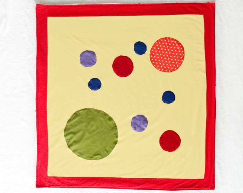 Circles Baby Blanket / Tummy Time Mat / Sensory Blanket with image 0