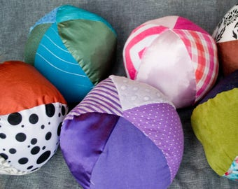 Multicolored Sensory Ball - Large / Sensory Ball with Crinkle / Rattle